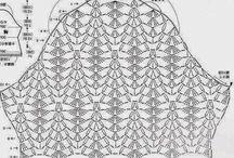 gráfico de disminuciones manga crochet