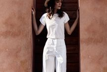 A travel in White / Total white outfits for a S/S 2016 rich of sun and at the sametime fresh like an iced glass of water