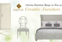 Criteria by Bernhardt Furniture at Creative Furniture Store / While glamorous collections are often bold, the best ones are tempered by delicate details that bestow living spaces with the perfect balance. Transitional in design but traditional in nature, Criteria delivers a luxurious look. The collection is full of surprises from its high-sheen finishes to faux lizard skin patterns to shimmering silver metal details. Overall Criteria exudes sleekness and refinement.