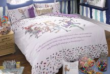 Roald Dahl Bedding / Featuring imagery from your favourite Roald Dahl stories, beautifully illustrated by Quentin Blake, the Roald Dahl Bedding Collection will bring a world of fantasy right into your bedroom.  These wonderful designs are a slice of pure childhood nostalgia, showcasing the magical tales written by Roald Dahl.