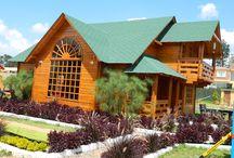 casas de madera los chanos, casa modelo / Casas de madera macizas tipo block house