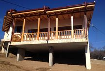 Residential houses / The residential houses is situated in the same site in Muhovo village located near to Sofia, Bulgaria. One-storied houses. On the story are situated: Living room, dining area and kitchen and 3 bedrooms with bathrooms. The structure is concrete.