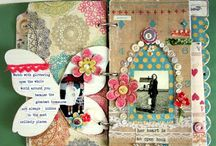 Art Journalling Gallery by others / Some Art Journal pages  that I love, made by some artists that I admire!  Other Mixed media projects pinned onto separate board.