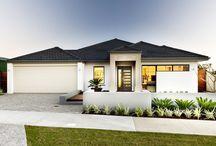 Haus, außen farben, Pflaster