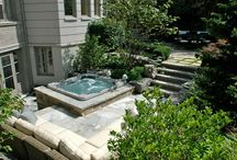 Hot Tub Install Ideas / Hot tub design ideas. Deck and patio design ideas for outdoor hot tubs.
