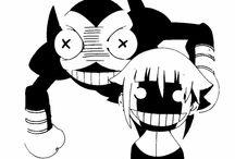 estencil anime / Anime estencil byn terrorsmile