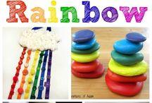 Rainbow art for kids / Rainbow art/science ece