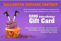 HALLOWEEN CUPCAKE CONTEST https://www.facebook.com/events/234414190043542/ / HALLOWEEN CUPCAKE CONTEST! Send your photo to friend@bakersbodega.com to enter to WIn! Find Rules and Regulations by clicking here: https://www.facebook.com/events/234414190043542/