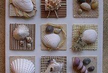 arte con caracoles marinos