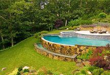 piscina declive