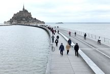 Le Pont-passerelle du Mont Saint-Michel