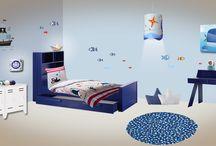 Chambre enfant Mer / une chambre d'enfant mer