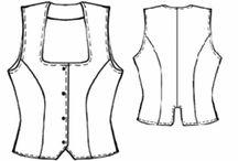 Wykroje / Różne wykroje ubrań