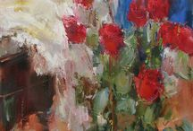 Love these Flower Paintings / Paintings of flowers that I like, that inspire me.