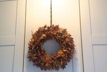 Autumn wreath / My autumn deco. Moje práce...