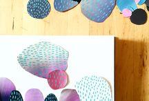 7th - collaging monoprints
