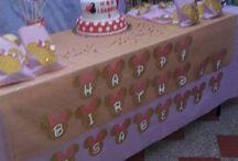 hermosa fiesta de minie rosado y dorado de 3 años / decoracion para fiesta de minie