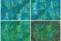 Leaves / Blätter / Blattmuster, leaf pattern, bemalte Blätter, painted leaves, leaf, Blätter,