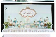 Dessert Table Backdrops / Printable backdrop designs for: baptism, christening, first communion, wedding, graduation, children's birthdays, adult birthday parties.