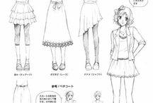 clothes manga and anime girl