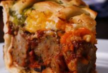 Baked Meatball Pie