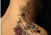Tattoos / Colour and black and white tattoos preferably flower designs