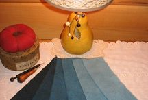 Hand-dyed 100% Wool ~ Blues & Greens / Hand-dyed 100% Wool. Our wool is skirt weight and is suitable for rug hooking, penny rugs, wool applique quilting, clothing and crafts.