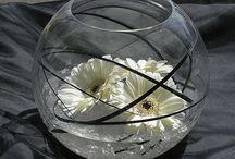 Fish bowel flower arrangements