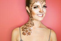Carnaval giraffe/pauw/zebra
