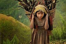 kadın, çocuk,  köy