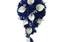 Royal Blue Wedding Bouquest / Find the best selection of royal blue wedding flowers here!