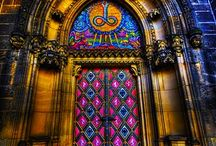 "DOOR ways / ""Every door opens a new story."" / by MJS"