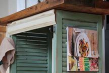 Shutter Upcycle / Bringing creative life & purpose to everyday throw away items!