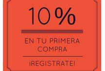 Descuento primera compra / 10% descuento en tu primera compra