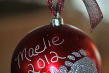 2017 baby footprint ornament