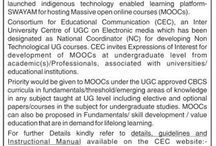 Invitation for expression of interest and proposals for developing MOOCs