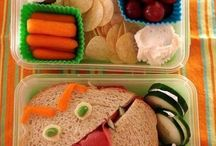 Children's fun lunch ideas / You might not be eating with them, but put a smile on your child's face with these great lunch ideas.
