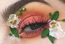 Sesión flores maquillaje flores