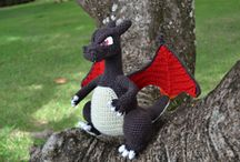 Crochet - Dragon / Dragons in 2 or 3 Dimensions!