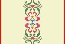 Rosemaling stencils