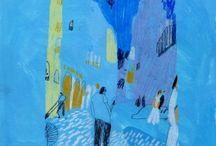 Illustratie kleur aquarel