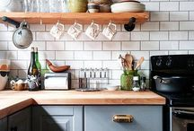 Kitchen heaven / One day I will have a glorious kitchen! Until then, I shall dream of my perfect kitchen and collect beautiful inspiration and ideas here. Gorgeous tiles, stunning worktops, clever storage, loads of light and trendy functional space for cooking. Let that day be soon!
