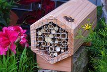 Des refuges dans le jardin / Quelques fabrications de Symbiosphere installés dans le jardin