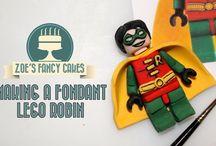 lego super heroes cake