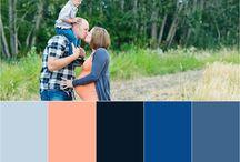 barvy oblečení sladění - color palette ideas photosession / Barevnou paletu si můžete výbrat v navazanosti na oblečení, které jste výbrali pro jednoho ze členů rodiny. Nebo naopak můžete na začátku stanovit barevnou paletu a pak se oblékat v souladu s ní.