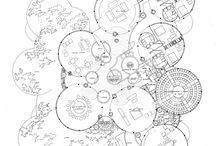 B MACLADOS / MACLADOS en las artes, el diseño y la arquitectura: intersección de prismas, maclas o sólidos conjuntos.