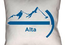 Alta, Utah Throw Pillows