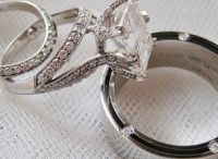 wedding rings and bling