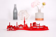 Skylines aus Holz in 3D