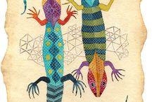 jesterky a chameleoni